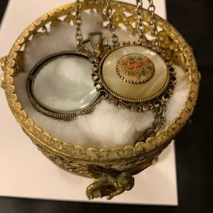 Vintage magnifying glass as a necklace